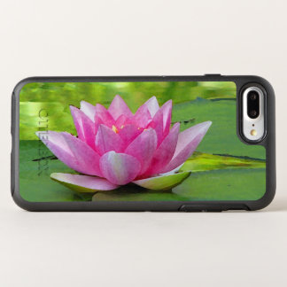 Floral Pink Water Lily Lotus Flower OtterBox Symmetry iPhone 8 Plus/7 Plus Case