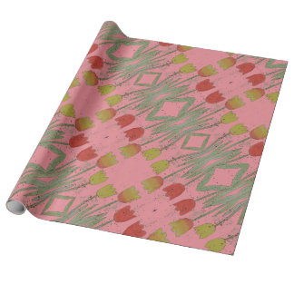 Floral Pink wrapping paper, tulip