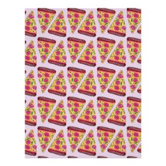 floral pizza letterhead
