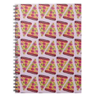 floral pizza notebooks