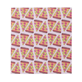 floral pizza notepad