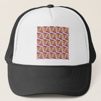 floral pizza trucker hat