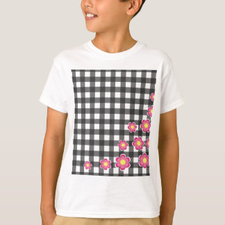 Floral plaid design T-Shirt