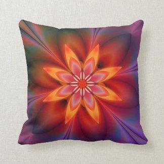 Floral Plum Psychedelic Autumn Pillow