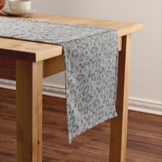Floral Pod  Line Art Design Short Table Runner