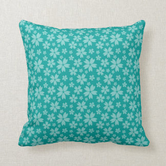"Floral Polyester Throw Pillow 16"" x 16"""