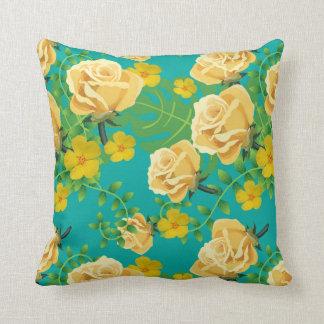 "Floral Polyester Throw Pillow, Pillow 16"" x 16"""