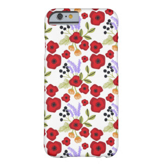 Floral  poppy  red barely there iPhone 6 case