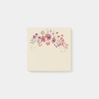 Floral Post-it Note Block