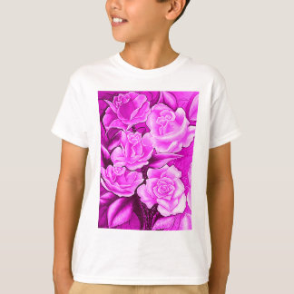 FLORAL POSTCARD IN ROSA T-Shirt