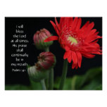 Floral Poster w/ Bible verse about praise faith