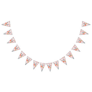 Floral Pretty Party Decor Bunting Banner