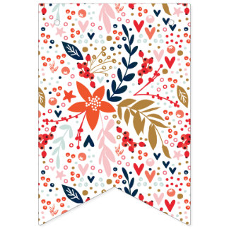 Floral Pretty Party Decoration Bunting Banner
