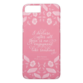 Floral Pride & Prejudice Jane Austen Bookish Quote iPhone 8 Plus/7 Plus Case