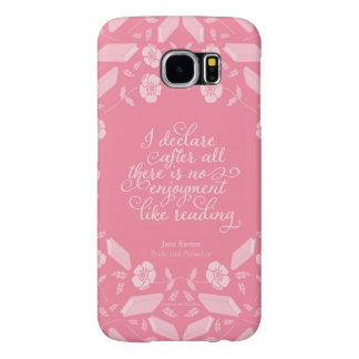 Floral Pride & Prejudice Jane Austen Bookish Quote Samsung Galaxy S6 Cases