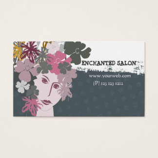 Floral Princess Elegant Female Blooming Spring Business Card