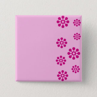 Floral print 2 inch square button