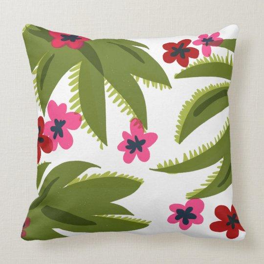Floral Print accent pillow
