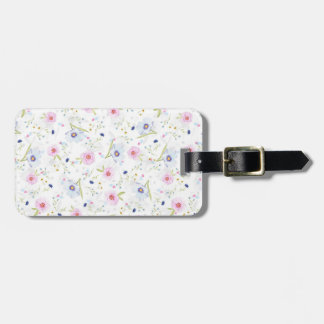 Floral Print Luggage Tag