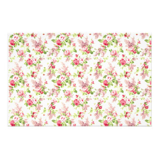 Floral Print Stationery