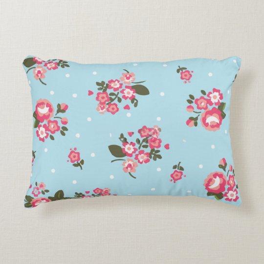 "Floral printed desing Pillow 16"" x 12"""