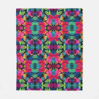 """Floral Printed Fleece Blanket, 50""""x60"""""""