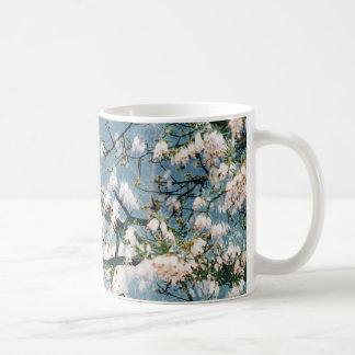 Floral printed mug - blue and sky design