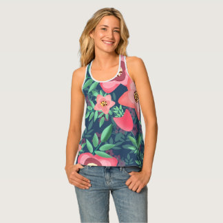 floral printing tank top