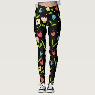 floral printing with black bottom leggings
