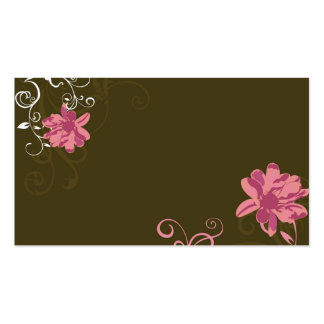Floral Profile Card Business Card