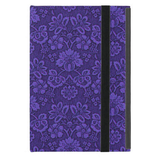 Floral purple decoration cover for iPad mini