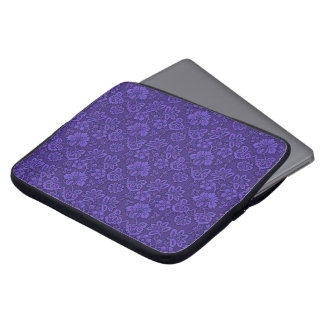 Floral purple decoration laptop sleeve