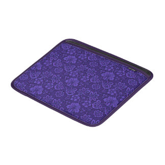 Floral purple decoration MacBook sleeve