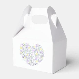 Floral Purple Lavender Heart Flower  Wedding Party Favor Box