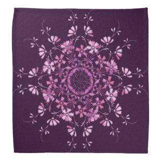 Floral purple mandala. bandana
