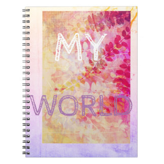 Floral Purple Notebook with beautiful leaves