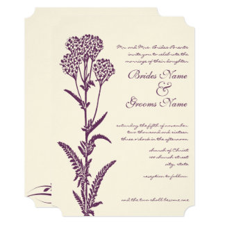 Floral Purple Religious Wedding Invitation