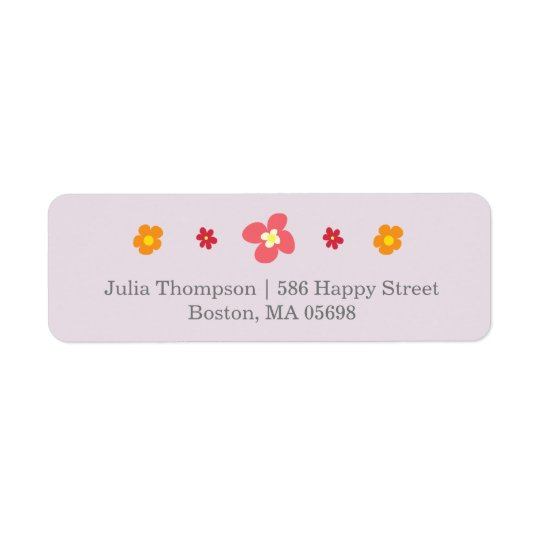 Floral Purple Return Address Labels