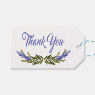 Floral Purple Thank You Lavender Flower Pack Of Gift Tags
