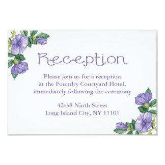 "Floral Purple Watercolor Flower Reception Card 3.5"" X 5"" Invitation Card"