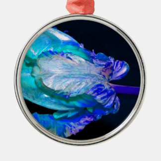 Floral quietly Life with Tulip Metal Ornament