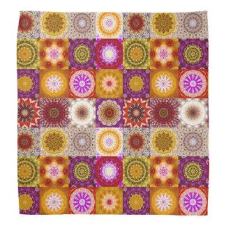 Floral Quilt or Patchwork Pattern Bandana