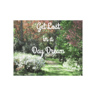 "Floral Quote Path ""Get Lost in a Daydream"" Canvas"