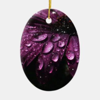floral rain drops art design ceramic ornament