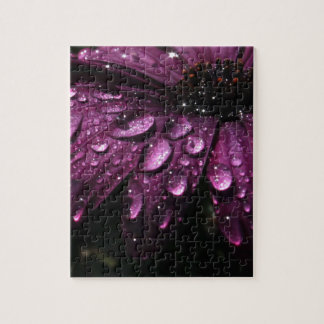 floral rain drops art design jigsaw puzzle