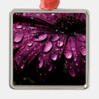 floral rain drops art design metal ornament