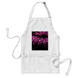 floral rain drops art design standard apron