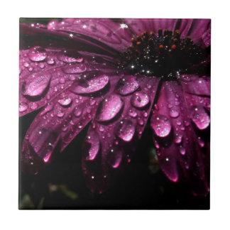 floral rain drops art design tile