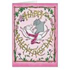 Floral Rattie Valentine Card