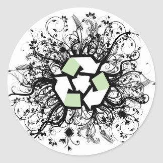 Floral Recycle Stickers